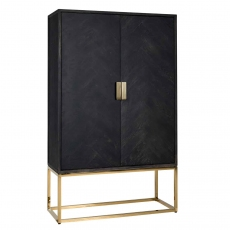 Blackbone Wall Cupboard (Low) - Gold Collection
