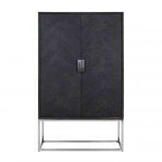 Blackbone Wall Cupboard (Low) - Silver Collection