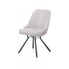 Eefje Dining Chair (Light Grey) by Habufa