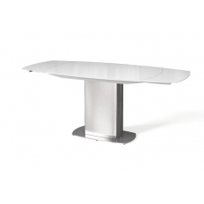 Olivia Swivel Extending 130-190cm Dining Table (Super White) by Torelli