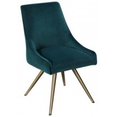 Amy Dining Chair (Teal) by Baker