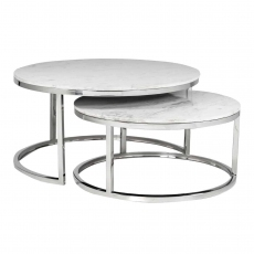 Levanto Nest of 2 Round Coffee Tables by Richmond Interiors