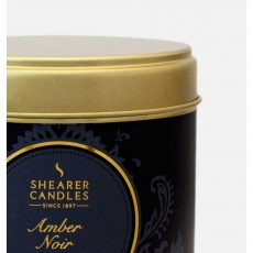 Amber Noir Large Candle Tin by Shearer Candles