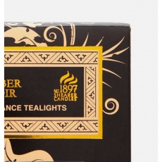 Amber Noir Tealights x8 by Shearer Candles