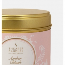 Amber Blush Large Candle Tin by Shearer Candles
