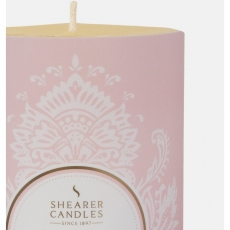 Amber Blush Pillar Candle by Shearer Candles