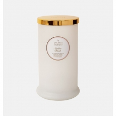 Amber Blush Tall Pillar Jar Candle by Shearer Candles