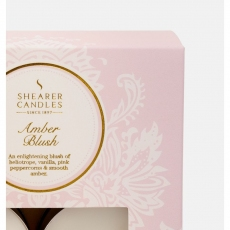 Amber Blush Tealights x8 by Shearer Candles