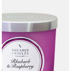 Rhubarb and Raspberry Jar Candle by Shearer Candles