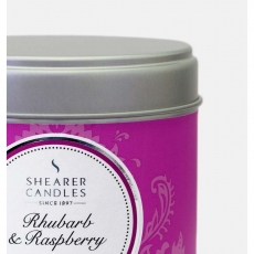 Rhubarb and Raspberry Large Candle Tin by Shearer Candles