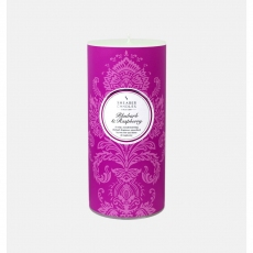 Rhubarb and Raspberry Pillar Candle by Shearer Candles