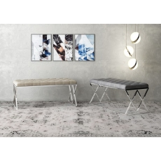 Adele Upholstered Bench (Silver Grey) by Torelli