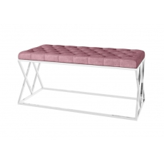 Adele Upholstered Bench (Pink) by Torelli