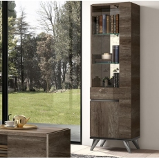 Medea 1 Door Display Cabinet (Right Hand Opening) by Status of Italy