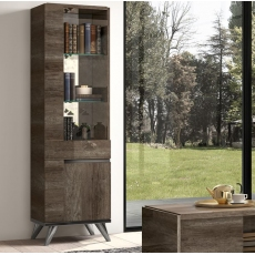 Medea 1 Door Display Cabinet (Left Hand Opening) by Status of Italy