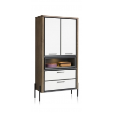 Shirley Tall Cabinet (with LED Lighting) by Habufa
