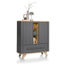 Jardin Highboard with LED Lighting (Anthracite) by Habufa