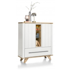 Jardin Highboard with LED Lighting (White) by Habufa