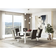 Blanca 150cm White Dining Table by Torelli