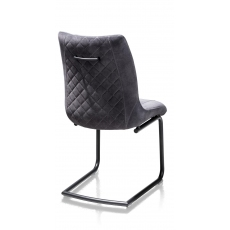 Armin Fabric Dining Chair (Anthracite) by Habufa