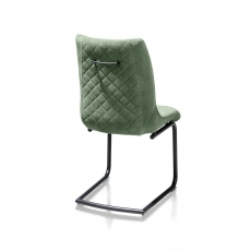 Armin Fabric Dining Chair (Olive) by Habufa