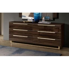 Smart 6 Drawer Dresser Chest (Walnut) by CamelGroup