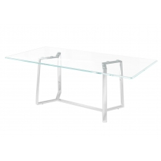 Alberto 160cm Glass Dining Table
