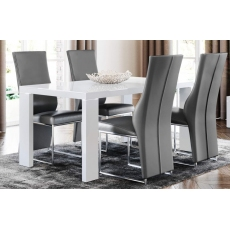 Lucca 160 x 90cm Light Grey Dining Table by Torelli