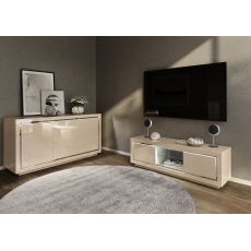 Sardinia White 3 Door Sideboard with LED Lighting