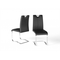 Gabi Black Faux Leather Dining Chairs (Set of 4)