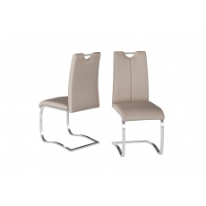 Gabi Taupe Faux Leather Dining Chairs (Set of 4)