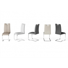 Gabi Grey Faux Leather Dining Chairs (Set of 4)