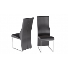 Remo Black Faux Leather Dining Chairs (Set of 2)