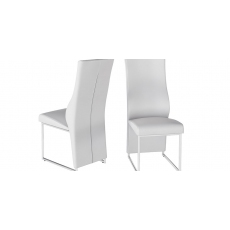 Remo White Faux Leather Dining Chairs (Set of 2)