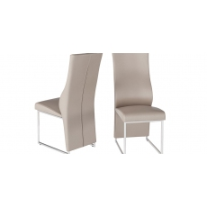 Remo Taupe Faux Leather Dining Chairs (Set of 2)