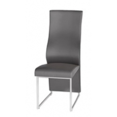 Remo Dark Grey Faux Leather Dining Chairs (Set of 2)