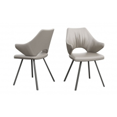 Zola Taupe Faux Leather Dining Chairs (Set of 2) by Torelli