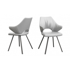 Zola White Faux Leather Dining Chairs (Set of 2) by Torelli