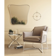 Lara Silver Grey Velvet Lounge Chair