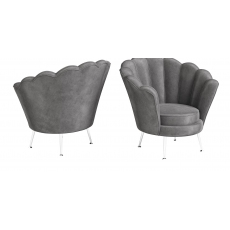 Erica Dark Grey Velvet Lounge Chair