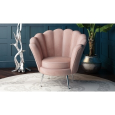 Erica Pink Velvet Lounge Chair