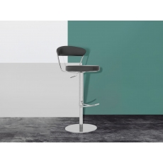 Gino Grey Faux Leather Bar Stools (Set of 2) by Torelli