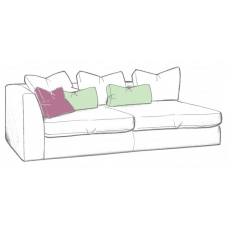 Bossanova 1 Arm LHF Large Sofa Unit by WhiteMeadow