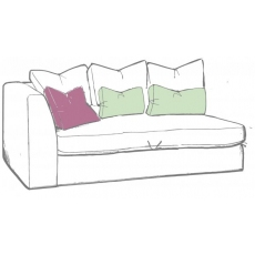 Bossanova 1 Arm LHF Small Sofa Unit by WhiteMeadow