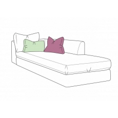 Bossanova 1 Arm RHF Chaise Unit by WhiteMeadow