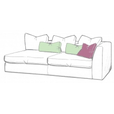 Bossanova 1 Arm RHF Large Sofa Unit by WhiteMeadow