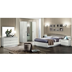 Onda White 4 Door Wardrobe