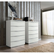 Onda White 5 Drawer Tall Chest