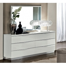 Onda White 6 Drawer Wide Chest
