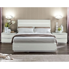Onda White Kingsize Lift-Storage Ottoman Bedframe